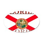 Florida.jpg Oval Car Magnet