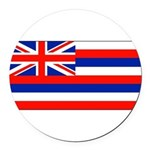 Hawaiiblank.jpg Round Car Magnet