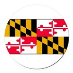 Marylandblank.png Round Car Magnet