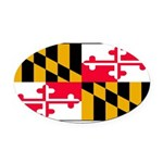 Marylandblank.png Oval Car Magnet