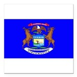 Michiganblank.png Square Car Magnet 3