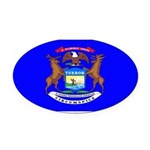 Michiganblank.png Oval Car Magnet
