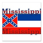 Mississippi.png Square Car Magnet 3