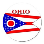Ohio.png Round Car Magnet