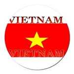 Vietnam.jpg Round Car Magnet