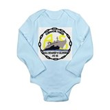Cute Navy emblems Long Sleeve Infant Bodysuit