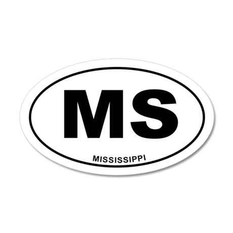 Mississippi State 35x21 Oval Wall Decal