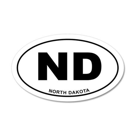 North Dakota State 20x12 Oval Wall Decal