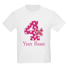4th Birthday Butterfly T-Shirt