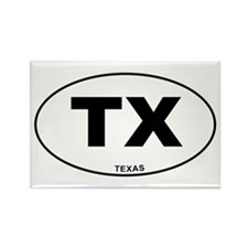 Texas State Rectangle Magnet (10 pack)