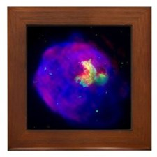 Supernova Remnant Framed Tile