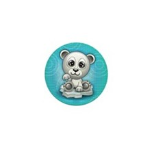 Polar Bear Mini Button