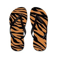 Tiger Jungle Animal Print Flip Flops