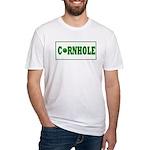 Cornhole Board Design Fitted T-Shirt