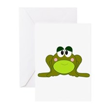 Happy Green Frog Greeting Cards (Pk of 10)