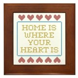 Where Your Heart Is Framed Tile