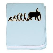 Elephant Riding baby blanket