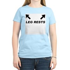 Leg Rests Women's Pink T-Shirt