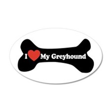I Love My Greyhound - Dog Bone Wall Decal