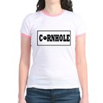 Cornhole Board Design Jr. Ringer T-Shirt