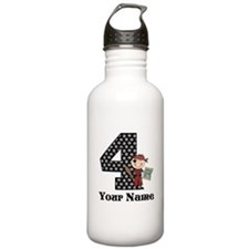 4th Birthday Pirate Water Bottle