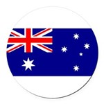Australia.jpg Round Car Magnet