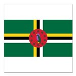 Dominica.jpg Square Car Magnet 3