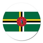 Dominica.jpg Round Car Magnet