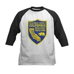 California Game Warden Kids Baseball Jersey