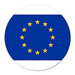 European Union.jpg Round Car Magnet
