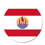 French Polynesia.jpg Round Car Magnet