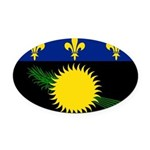 Guadeloupe.jpg Oval Car Magnet