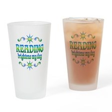 Reading Brightens Days Drinking Glass