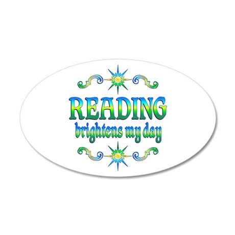 Reading Brightens Days 20x12 Oval Wall Decal