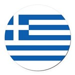 Greece.jpg Round Car Magnet