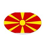 Macedonia.jpg Oval Car Magnet