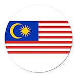 Malaysia.jpg Round Car Magnet