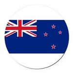 New Zealand.jpg Round Car Magnet