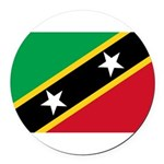 Saint Kitts and Nevis.jpg Round Car Magnet