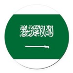 Saudi Arabia.jpg Round Car Magnet
