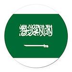 Saudi Arabia.jpg Round Car Magnet