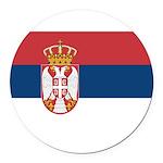 Serbia.jpg Round Car Magnet