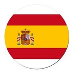 Spain.jpg Round Car Magnet