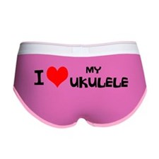 I Love My Ukulele Women's Boy Brief