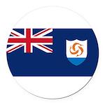 Anguilla.jpg Round Car Magnet