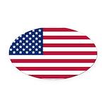 United States.jpg Oval Car Magnet