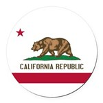 California.jpg Round Car Magnet