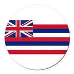Hawaii.jpg Round Car Magnet