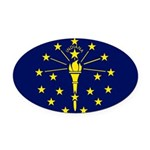 Indiana.jpg Oval Car Magnet
