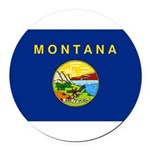 Montana.jpg Round Car Magnet